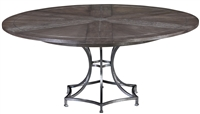 Sunset Jupe Dining Table Large - Round Expandable Dining Table Grey
