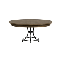 round dining table Jupe light mink iron base