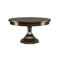 round dining table artisan grey pedestal