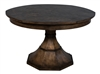 Giselle Jupe Dining Table Medium - Round Expandable Dining Table Dark