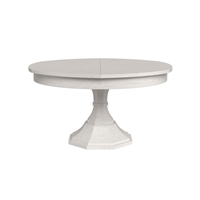round dining table working white pedestal