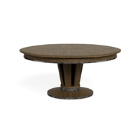 round expandable dining table light mink