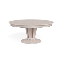round expandable dining table whitewash