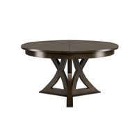 round expandable dining table artisan grey medium