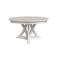 round expandable dining table working white medium