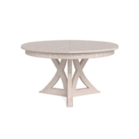 round expandable dining table whitewash medium