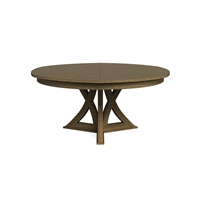 round expandable dining table heather grey large