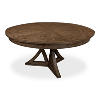 round Jupe dining table large grey finish contemporary transitional