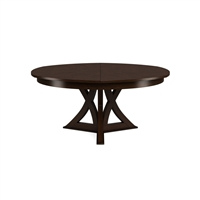 round expandable dining table burnt brown oak large