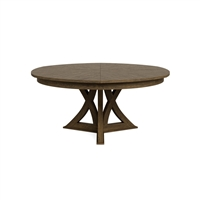 round expandable dining table light mink oak large
