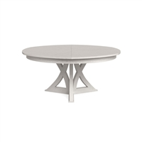 round expandable dining table working white oak large