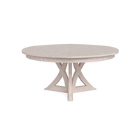 round expandable dining table whitewash white oak large