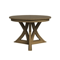 round expandable dining table heather grey small