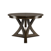 round expandable dining table artisan grey small