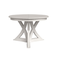 round expandable dining table working white small
