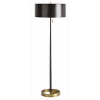 floor lamp black iron antique brass elegant contemporary round gold base pull chain