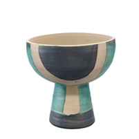 aqua ceramic vessel bowl