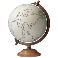 canvas table globe brown stand
