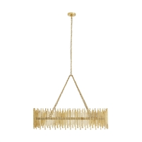 contemporary oval chandelier gold leaf