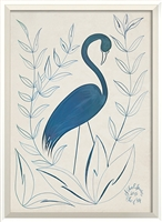 blue crane branch framed wall art