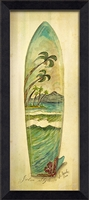 Designer Palm Style Surf Board Art Print | BSEID