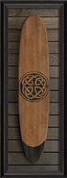 Spicher & Company coastal wall art surfboard wood vintage frame glass Celtic knot