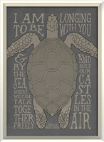 sea turtle quote framed wall art