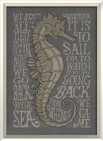seahorse quote framed wall art