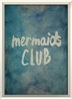 blue green mermaid framed wall art
