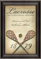 Lacrosse 1879 Poster Framed Art - USA Made Thoughtful Gifts For Dads | BSEID