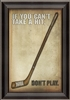 Hockey Poster Framed Art