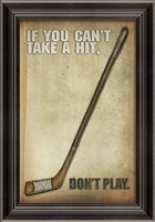 Designer Hockey Poster Framed Art - USA Made Canvas + Framed Wall Art | BSEID