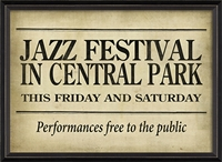 Spicher & Company Jazz Festival in Central Park - USA-Made Art Print | BSEID