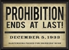 Prohibition Ends At Last Art Print