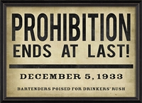 Luxury Designer Spicher & Company Prohibition Ends At Last Art Print