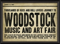 Woodstock Art Print - Canvas + Framed Wall Art