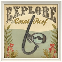 Designer Explore The Coral Reef - USA Made Canvas + Framed Wall Art | BSEID