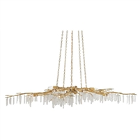 gold iron hanging crystal chandelier modern