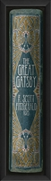 the great gatsby book spine framed wall art