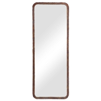 tall large wall mirror copper bronze oxidized frame