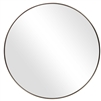 round mirror deep antiqued brushed brass finish iron frame