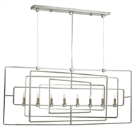 geometric silver rectangle chandelier contemporary
