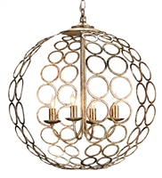 wrought iron silver finish 4 bulb chandelier