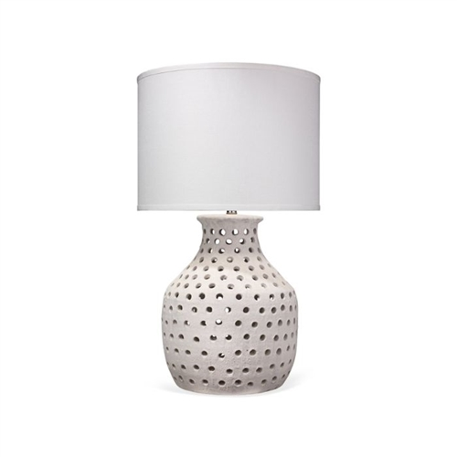 white matte textured table lamp linen shade