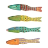 Recycled Wood Antique Fish / set of 4