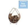 Kalalou log holder firewood sling rush metal frame organic