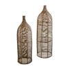 2 bottles natural seagrass tall