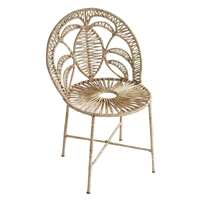 woven seagrass accent chair