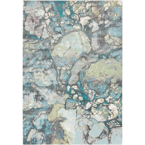 aqua area rug water colors low pile transitional