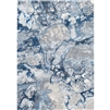 navy area rug watercolors low pile transitional